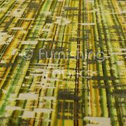 New Abstract Full Pattern In Green Brown Colour Heavy Velvet Upholstery Fabric