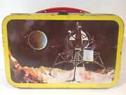 1960's Vintage Chilean Space Satellite Metal Lunch Box Only From Chile Very Rare