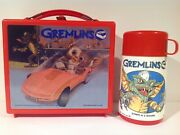 1984 Canadian Gremlins Vintage Plastic Lunch Box And Thermos From Canada Rare