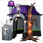 10ft Halloween Inflatable Haunted House With Led Light For Decoration New Ko