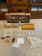 Vintage Roy Rogers Rodeo Ranch Louis Marx Playset Double R