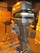 2000 225hp 225 25 Shaft Efi Suzuki Outboard Motor For Parts Not Working Seized