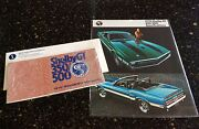Nos 1970 Shelby Autosport Gt-350/500 Mustang Owners Manual / Spec Sheet Envelope