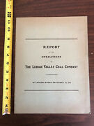 1916 Annual Report Of The Operations Of Lehigh Valley Coal Company Six Months