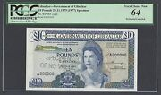 Gibraltar 10 Pounds 20-11-19751977 P22as Specimen Perforated Uncirculated