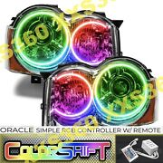 Oracle Halo Headlights Hid Style For Jeep Grand Cherokee 08-10 Colorshift Simple