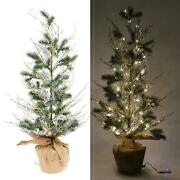 Pre-lit Led Christmas Tree Battery Usb Operated With Warm White Lights Decor 36