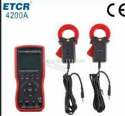 New Etcr4200a Intelligent Double Clamp Digital Phase Volt-ampere Meter Andphi40mm Mx