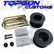 For 05-20 Ford F250 F350 Super Duty 2 Front + 2 Rear Lift Kit + Bump Stop Drop