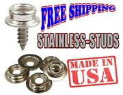 Stainless Steel Dot Studs With 5/8 Screw Or Plain-marine-outdoor-rv-7.49-57.00