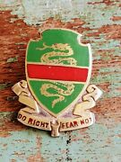 Antique Wwii Sterling/gold 757th Military Police Battalion Crest Pin Badge