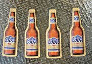 New 4 Lot Bottle Sign Coors Banquet Beer Christmas Ornaments Decoration Nos