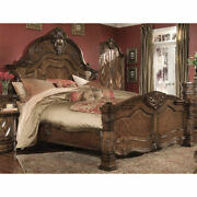 Aico Furniture - Windsor Court California King Mansion Bed In Vintage Fruitwood