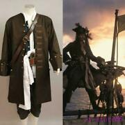 Cosplay Costume Halloween Outfit Long Coat Pirates Of The Caribbean Jack Fashion