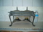 Vintage Anchor Hocking Chafing Double Quart With Stand/lids