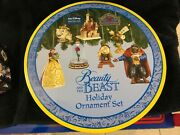 Jim Shore / Disney Traditions Beauty And The Beast Holiday Ornament Set - Mint