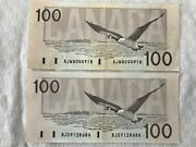 One Canada Currency 100 Banknote 1988 Thiessen Crow Excellent Condition