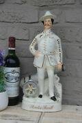 Antique Staffordshire Pottery Statue Figurine Baden Powell Officer Soldier