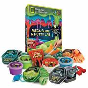 Mega Slime Kit Putty Lab National Geographic 8pc Bouncing Fluffy Glow Dark Safe
