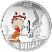 2015 30 Fine Silver Coin - Looney Tunes Tm The Rabbit Of Seville