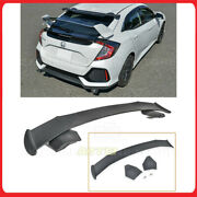 For 16-up Civic Hatchback Spoiler-209-abs Jdm Spoon Style Rear Roof Wing Spoiler