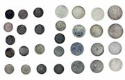 Lot Of 30 German Silver Coins Date Range 1905 To 1934 1/2 Mark, 2 Mark, 5 Mark
