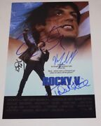 Rocky V Cast Signed Autographed 11x17 Poster Sylvester Stallone Shire Young Coa