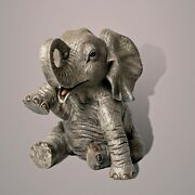 Elephant Baby Bronze Figurine Sculpture Statue Limited Edition By Barry Stein