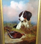 A Hunting Dog With Game By Colin Graeme Roe Fl 1858/1910 Oil On Canvas
