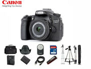 Canon 70d Eos Digital Camera With Ef-s 24mm Stm Lens 1894c002 + Tripod Stand