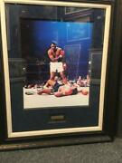 Muhammad Ali And Cassius Clay Signed Autograph 16 X 20 Framed