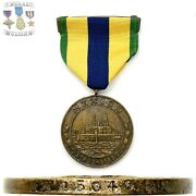15040 Wwi U.s. Navy Mexico Campaign Medal Numbered Stafford Contract 4-30-1927