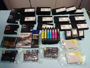 Lot 3-c - 33 Empty And New Mixed Lot Ink Cartridges Epson / Hp / Brother