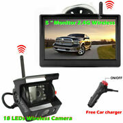 Wireless Ir Backup Camera With 5 Monitor System For Trailer Pickup Truck Camper