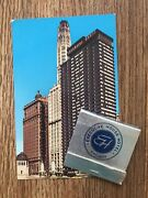 Lot Executive House Hotel Chicago Full Unstruck Matchbook And Vintage Postcard