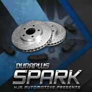 [front Drilled Brake Rotors Ceramic Pads] Fit 05 Infiniti Fx35 From 11/05