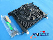 Universal 30 Row 10 An Transmission Oil Cooler And 7 Inch Electric Thermo Fan