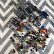 Star Wars Lego Vehicle Ship With Figures Lot