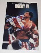 Rocky Iv 4 Cast Signed 11x17 Poster Sylvester Stallone Shire Young Beckett Coa