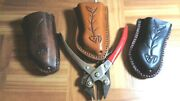 Fishing Sheath Fits 6 1/2 Manley Pliers Leather Stainless Steel Handcrafted Usa