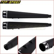 4and039and039 Silencers Megaphone Pipe Slip-on Mufflers Exhaust For Harley Touring 95-16