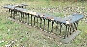 Antique 19th Century Brass And Wrought Iron Fireplace Fender Seat