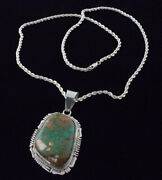 Natural Royston Turquoise Necklace By Navajo Artist Bennie Ration