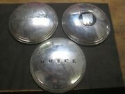 3 Buick Deluxe Hub Caps 1930and039s 40and039s Wall Hanger Wheel Cover Garage Decor Oem
