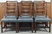Set Of 6 Kittinger Williamsburg Chippendale Mahogany Dining Chairs Cw 137