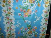 6y Lot Vintage Paramour David And Dash By Simone Fabric Blue Pink Cotton 109