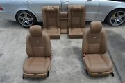 2009 W221 Mercedes S600 S550 Front And Rear Brown Leather Seat Seats Complete Set
