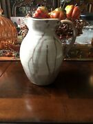 """Vintage Teagues Frogtown Pottery North Carolina 8-3/4"""" Brown Water Pitcher 1997"""