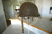 Ww2 Us Army Military Helmet Shell With M1 Msa Liner And Net Cover