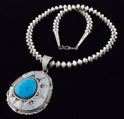 Natural Blue Gem Turquoise Necklace By Bennie Ration And Jeffery Nelson